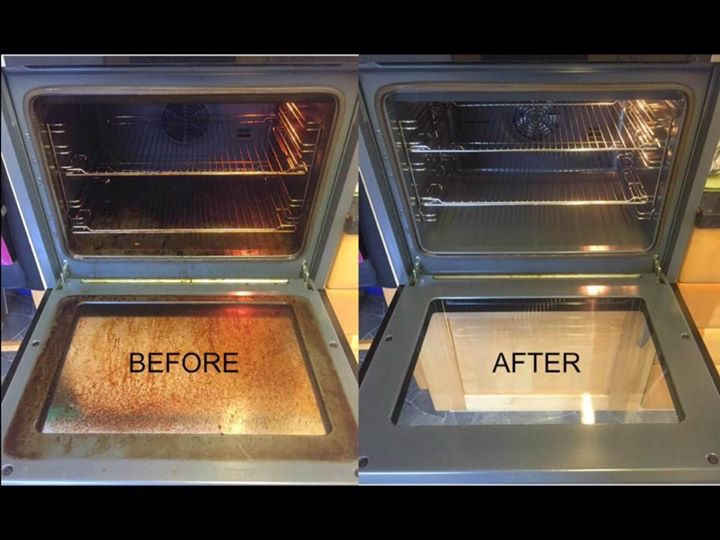 Atom Cleaners oven cleaning